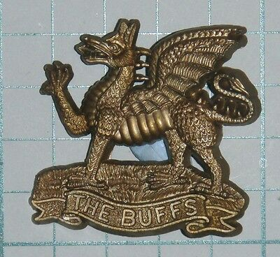 WW2 Plastic Economy Buffs Cap Badge