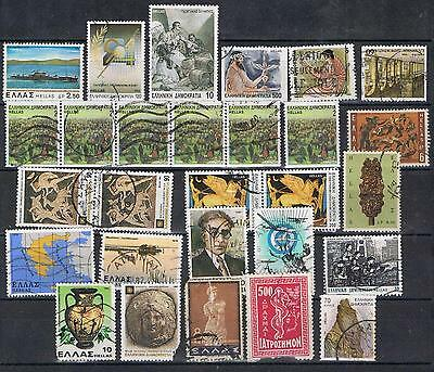Greece 1980's 1990's selection 28 stamps Used