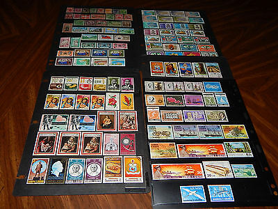 Samoa area stamps - BIG lot of 130 mint hinged and used early stamps - super !!