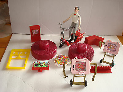 Pee-Wee's Playhouse misc.figure/ parts/ accessories 12 Pc.lot Matchbox