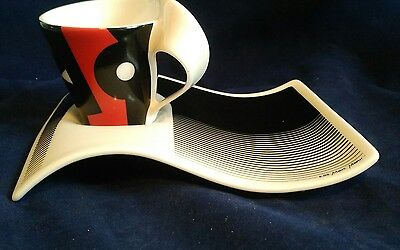 Villeroy and boch new wave black red white cafe set