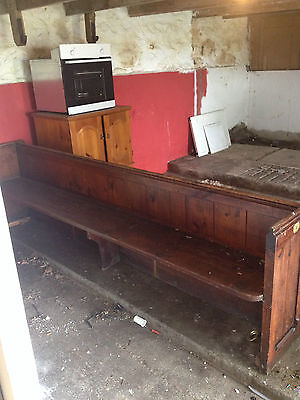 antique church pew/settle