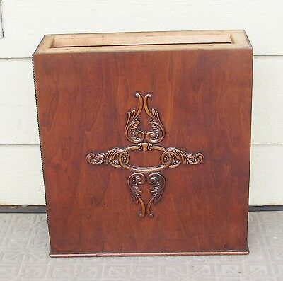 Antique Ornate Singer Treadle Sewing Machine Cabinet Drawer Frame Right side