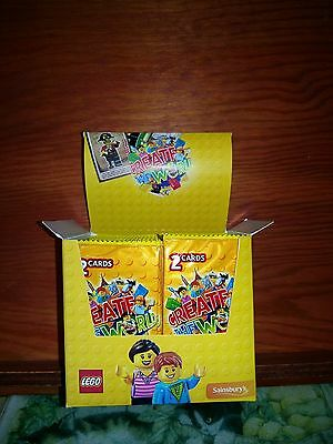 Lego Create the World Box of 150 2 pack (sealed) trading cards
