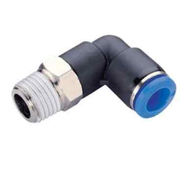 Male Elbow Push In Fit Pneumatic Fittings Air Water Hose Tube 2 / 5 / 10 Pack
