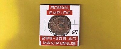 "Ancient Roman Empire ""Maximianus""  286-305 AD..AE follis, large 27mm .RIC 32b,e"