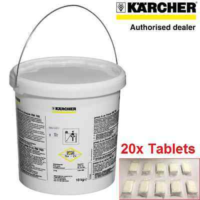 20 GENUINE KARCHER RM760 CLEANING TABLETS FOR PUZZI 100 300 8/1c 10/1 10/2 30/4