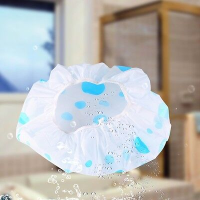 Shower Cap Bath Shower Reusable Clear Plastic Hair Cover Spa Salon Care