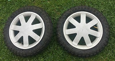 Quinny Buzz 4 & 3 Pair Silver Wheels With Off Road Tyres