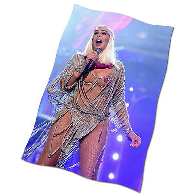 """Cher Flag Banner 30"""" NEW Strong Enough The Music's No Good Without You Believe"""
