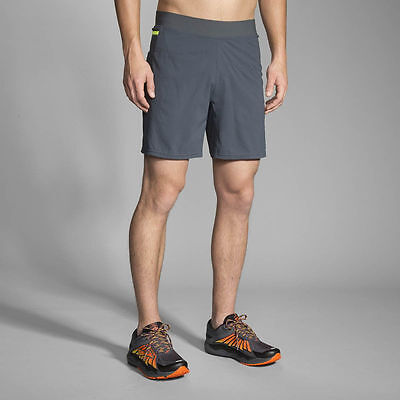 "Brooks Cascadia 7"" Running Shorts - Men's Small ~ $60.00 Asphalt Gray"