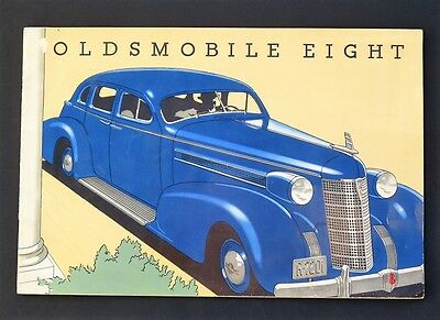 "ORIGINAL 1937 OLDSMOBILE ""EIGHT"" DELUXE SALES  BROCHURE ~ 8"" x 12"" 28 PAGES ~CR9"
