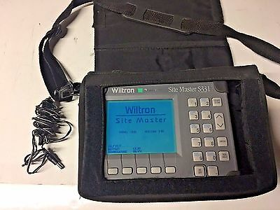 ANRITSU Wiltron Site Master S331 Cable & Antenna Analyzer w/ Car charger