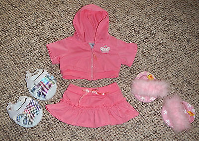 Build A Bear Hooded Outfit & Slippers & Sandals