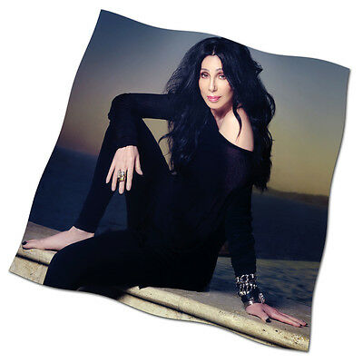 """Cher Flag Banner 24"""" NEW Woman's World Strong Enough After All Alive Again"""