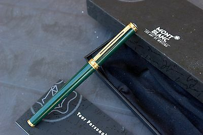 MONTBLANC Noblesse Oblige GREEN FOREST Lacquer/GOLD-ROLLERBALL Pen-NEW(NOS) FULL