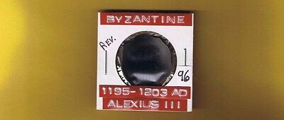 "Ancient Byzantine Coin of ""Alexius III"" 1195-1203 AD .. Large AE trachy. .SB2012"