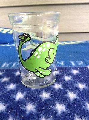 Vintage Brontosaurus 1988 Jelly Jar. Welch's. Jam. Drinking. Glass. Juice.