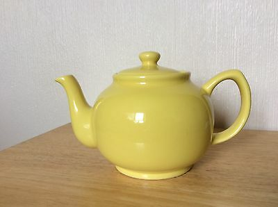 Price And Kensington Brights Yellow 6 Cup Teapot