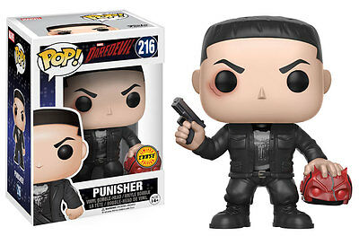 IN HAND Funko POP! Daredevil Punisher Chase Rare New NM Action Figure