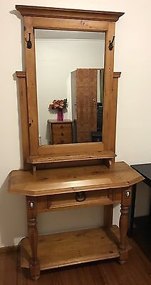 Solid Timber Hardwood Hall Stand From Early Settler Excellent Cond
