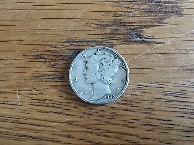 1940 U.S.A Mercury Head One Dime coin