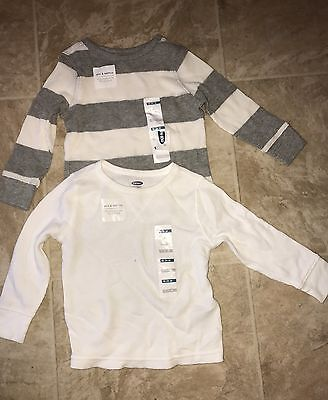 NWT Old Navy Toddler Boys 2 Long Sleeve Light Thermals Size 18-24 M