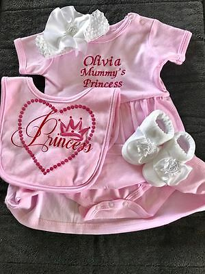 Baby Personalised Princess Set  In Keepsake Box