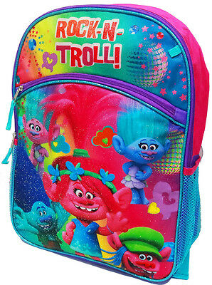 New Large Kids Backpack Trolls Girls School Bags Children Gift Picnic Travel