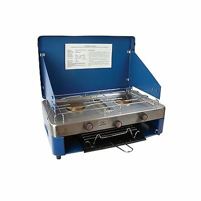 Highlander Double Burner & Grill Stove - Camping Gas Cooker RRP  £59.99