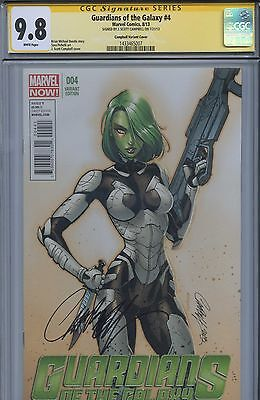 SS CGC 9.8 NMM Guardians of the Galaxy 4 Gamora Variant Sgn by Campbell Avengers