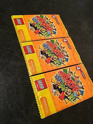 Lego Trading Card Packs 10 x4 Packs New (40 Cards) CREATE THE WORLD