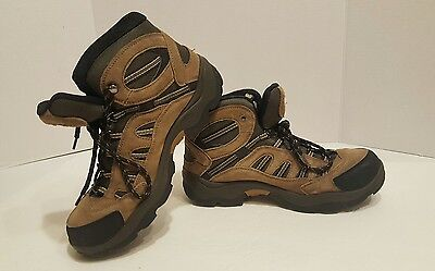 Hi-Tec Mens Boots ( Bandera,suede Leather,size 9 Mid Hiking Brown, Waterproof)