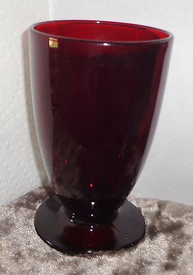 """Royal Ruby Red Glass Tumbler 5"""" Tall  By Anchor Hocking"""