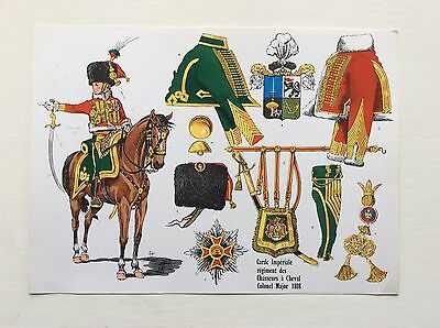 Le Plumet Print by Rigo No. 26 - French Napoleonic Chasseur a Cheval 1808