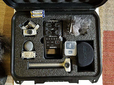 Zoom H6 Portable Recorder with Mid-Side Mic, SGH-6 Shotgun Capsule & Hard Case