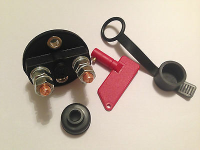 Red Electric Cut Off / Isolator Switch Car Race Rally Bus Coach - to clear