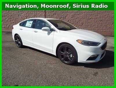 2017 Ford Fusion Sport 2017 Sport New Turbo 2.7L V6 24V Automatic AWD Sedan Moonroof LCD Premium