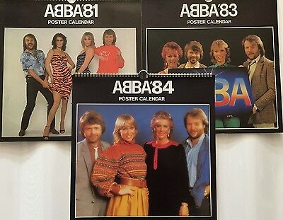 Abba (Björn, Benny, Frida, Agnetha) Calendars 81, 83 And 84
