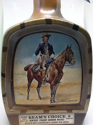 Vintage Jim Beam Whiskey Decanter Bottle Remington's Lieutenant S. C. Robertson