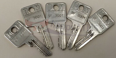 Wincor Atm Set Of 5 Keys Pn: 9F-3001