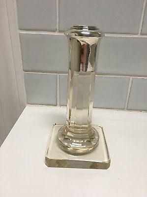 Vintage Friedlaender Glass And Silverplate Candlestick Candle Holder  Marked