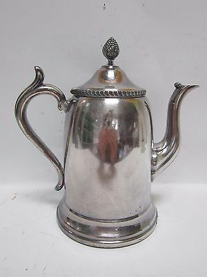 Silver Plated Reed & Barton Tall Tea Coffee Pot Holds 40 Ounces Vintage Ornate