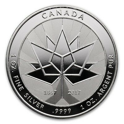 2017 CANADA 150 COMMEMORATIVE SILVER round 1 OZ .9999