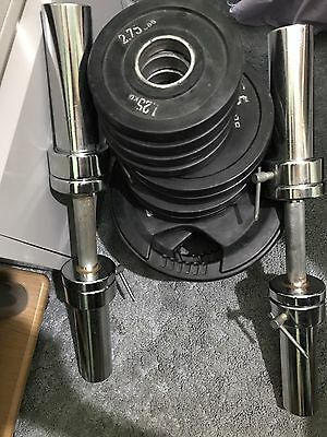"35 kg Tri-Grip Rubber Weight Set + 2x Olympic 2"" Dumbells"
