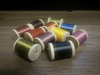 33 spools wrapping winding thread twist rod building size A 100 YARDS VERY NICE!