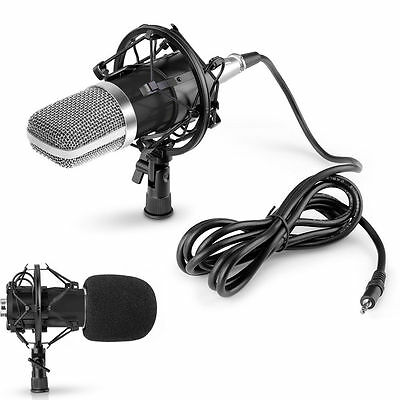 NW-700 Condenser Microphone + Shock Mount + Power Cable + Anti-wind Foam Cap USA
