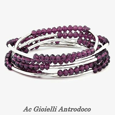 Chrysalis Bracciale Viola Individualità, Nomad Purple Individuality Elasticated