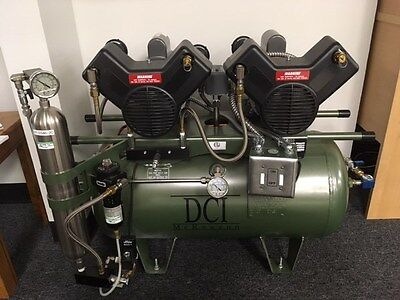 Oil Free Air Compressor, 2HP, Dual Head, 20 gallon