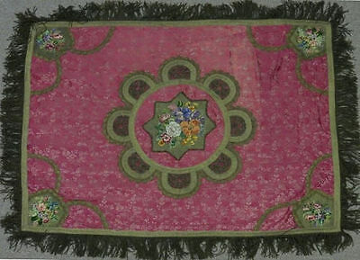 A beautiful 19th century antique tablecloth/table cover/throw/taperstry